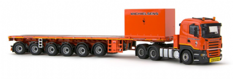 IMC Michielsens Scania R5 6x4 with 6 axle ballast trailer